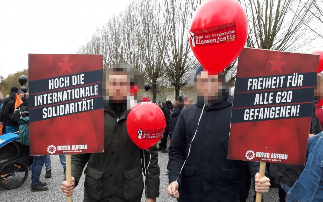 Kampf der bürgerlichen Klassenjustiz! Freiheit für die G20-Gefangenen!