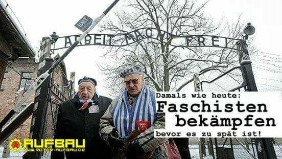 Wehret den Anfängen! Nie wieder Faschismus, nie wieder Krieg!