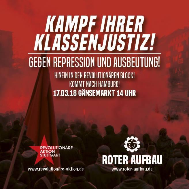 Kampf ihrer Klassenjustiz – Freiheit für alle politischen Gefangenen!